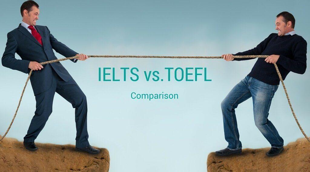 IELTS vs TOEFL 1024x567 - مقایسه نمرات آزمون آیلتس با تافل