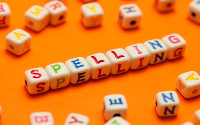 spelling blog image2 - اشتباهات متداول املا (spelling) در رایتینگ و لیسنینگ آیلتس