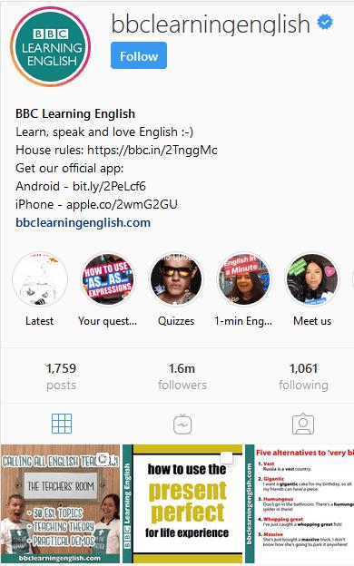 انگلیسی اینستاگرام