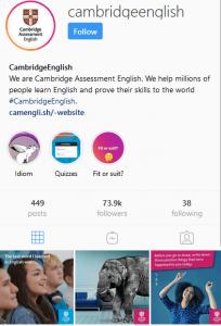 انگلیسی در اینستاگرام